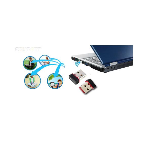 USB thu sóng Wifi 2.0 RTL8088 siêu nhỏ gọn tốc độ cực mạnh 450Mbps