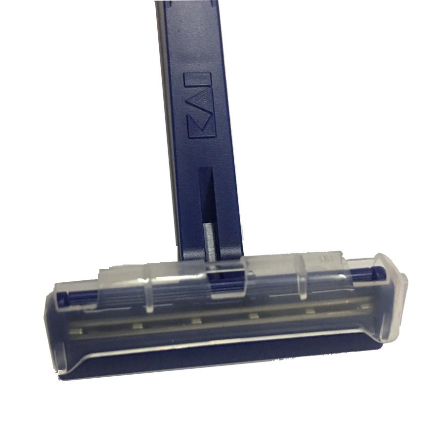 Hàng Nhật - Set 5 dao cạo râu 2 lưỡi kép KAI màu xanh