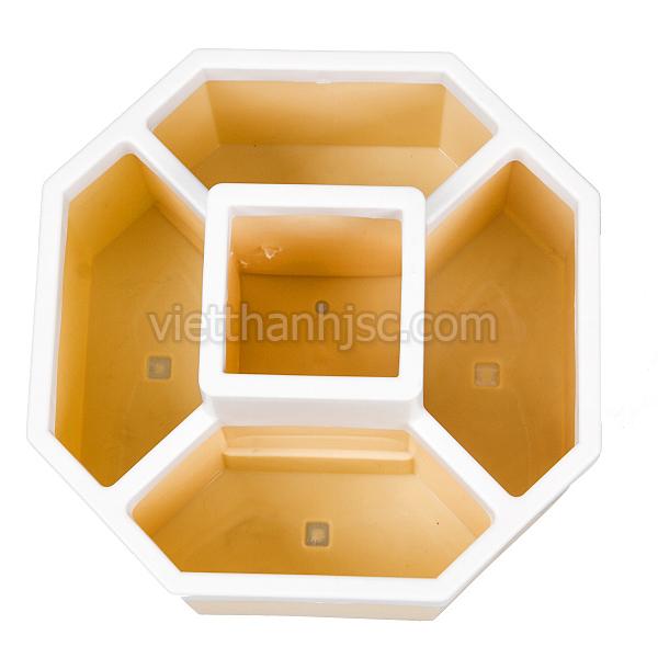 Hộp đựng bút, điều khiển dáng tròn (màu vàng)