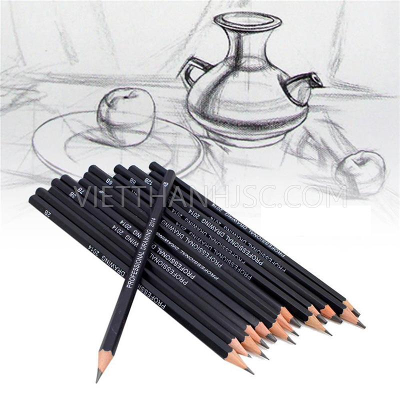 Set 10 bút chì mềm 2B