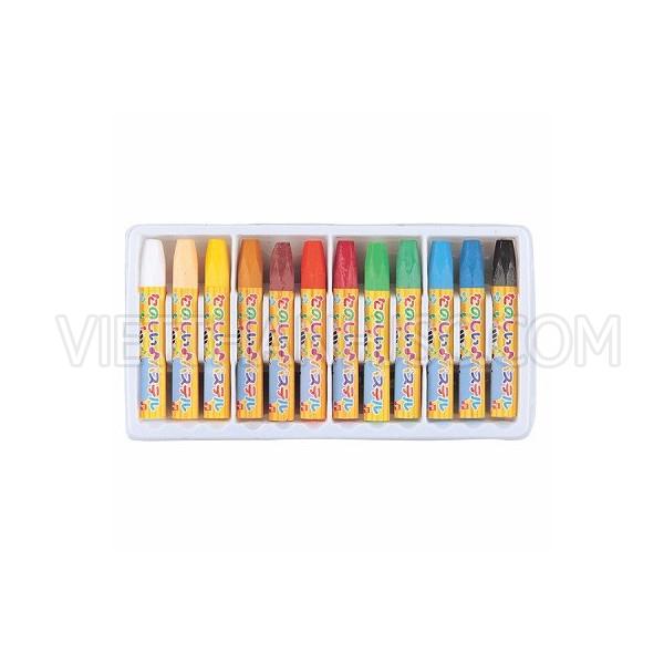 Set 12 bút sáp dầu tô màu cho bé
