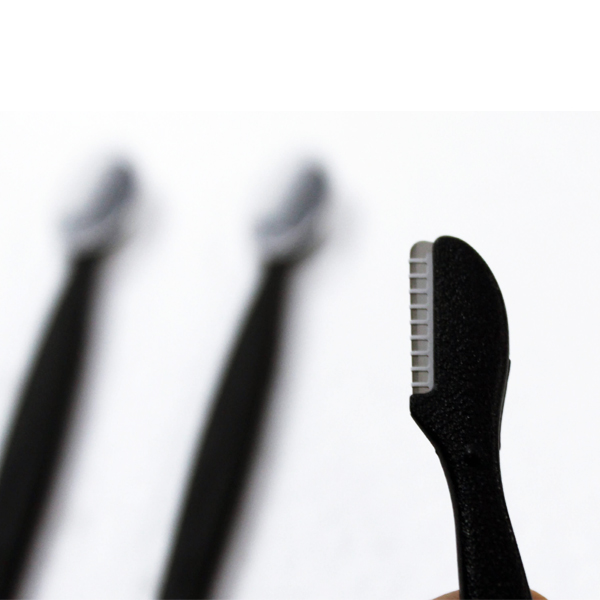Set 3 dạo cạo lông mày cán dài KAI (màu đen)