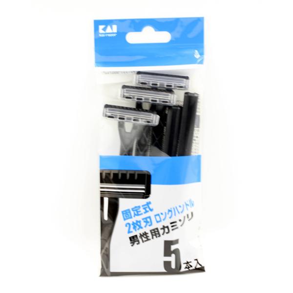 Set 5 dao cạo 2 lưỡi kép KAI (màu đen)