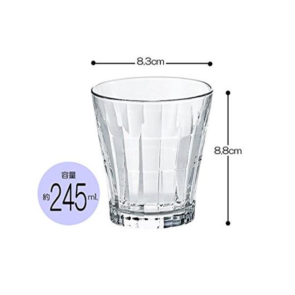 Set 4 cốc thủy tinh 245ml kẻ sọc