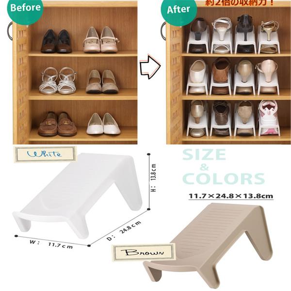 Set 5 kệ để giày dép cất gọn màu trắng