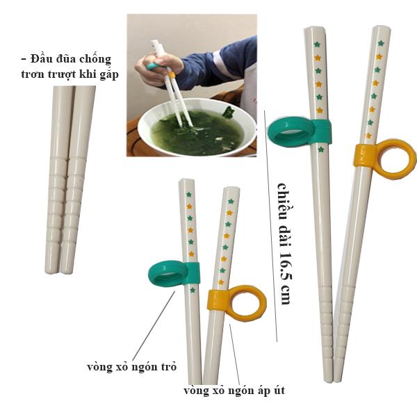 Đũa  tập ăn cho bé từ 2 - 5 tuổi dài 16.5cm