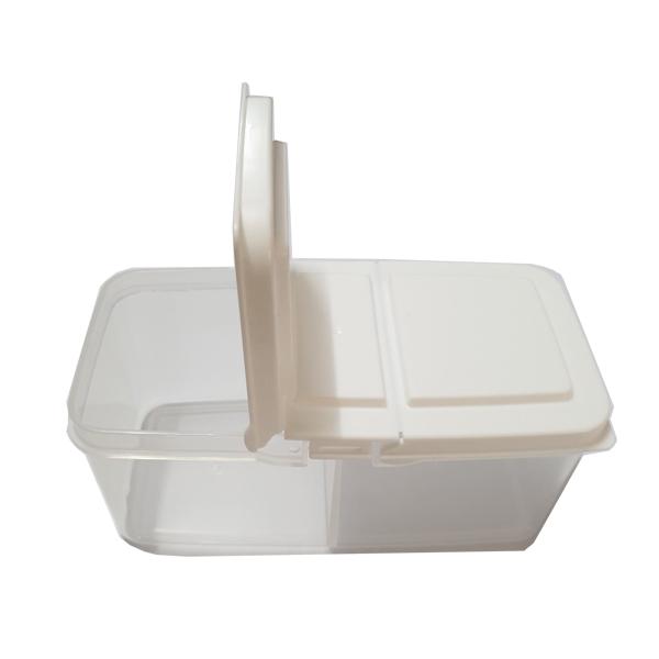 Hộp đựng thực phẩm/đồ ăn dặm chia 2 ngăn nắp rời 700ml chịu nhiệt