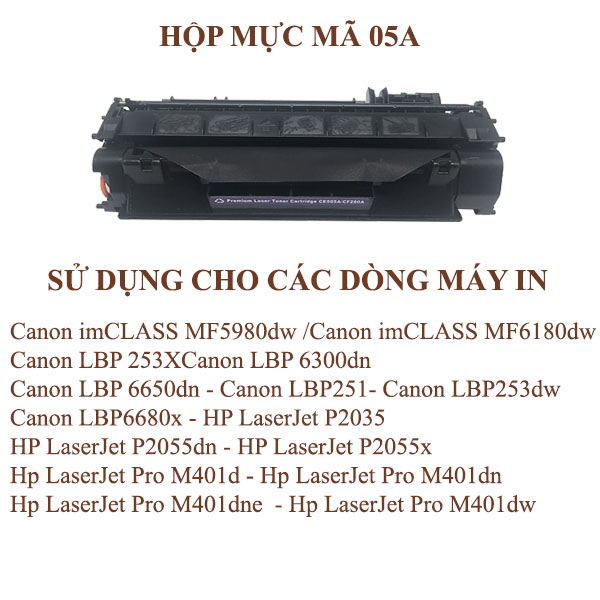 Hộp mực  HP05A/80A  (Có nắp đổ mực thải )