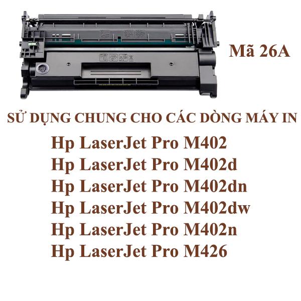 Hộp mực HP26A -Pro M402n/M402d/M402dn/M402dw/M426
