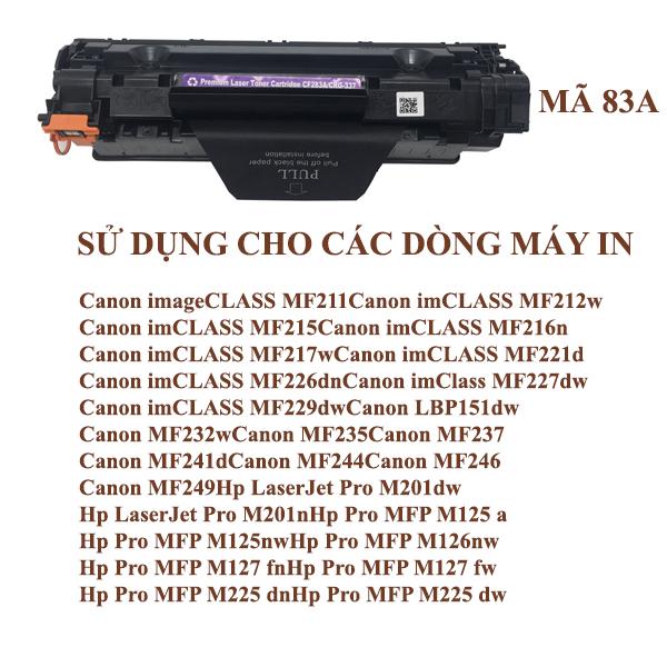 Hộp mực HPCF83A/Canon 337 U (Có nắp đổ mực, Có vỏ hộp)