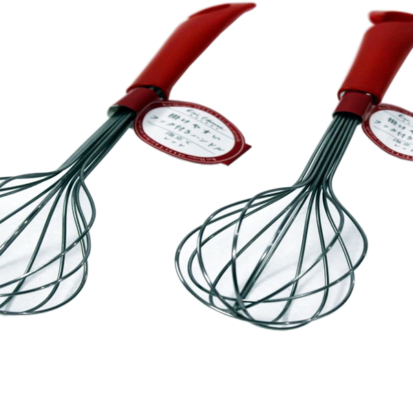 Dụng cụ đánh trứng inox KAI (cán đỏ)