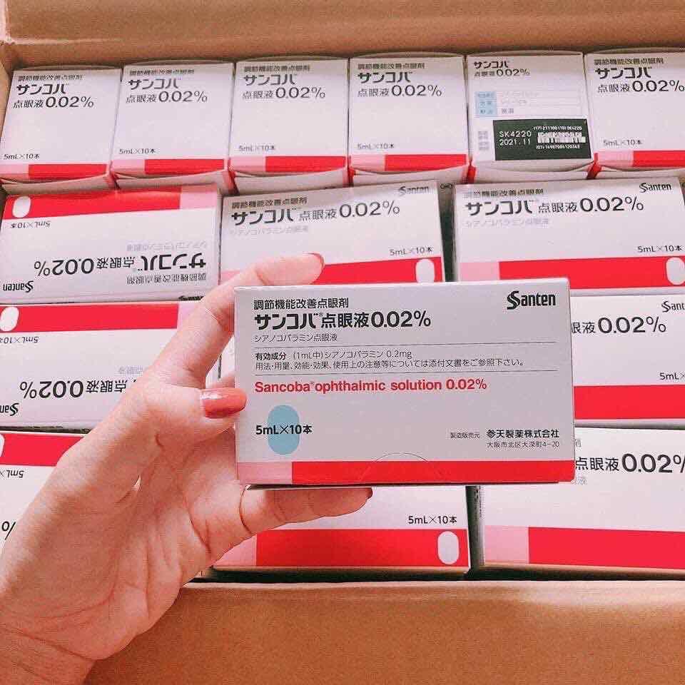 Thuốc nhỏ mắt chống cận thị Sancoba 0,02% Nhật bản