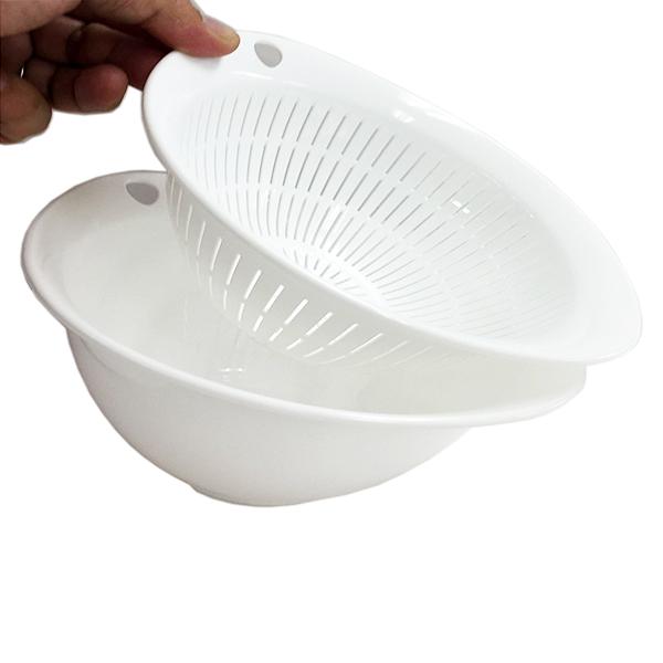 Rổ nhựa 3.6L màu trắng
