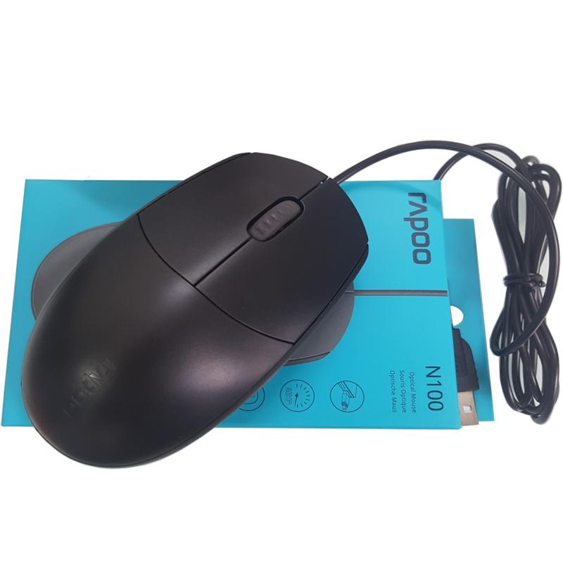 (Siêu rẻ, nhạy, bền) Chuột văn phòng, đồ họa Rapoo N100 siêu bền, hàng chính hãng, bảo hành 12 tháng