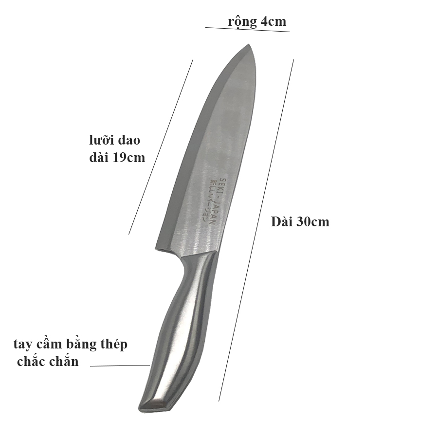 Bộ dao SEKI cao cấp  5 món  có kèm giá đựng