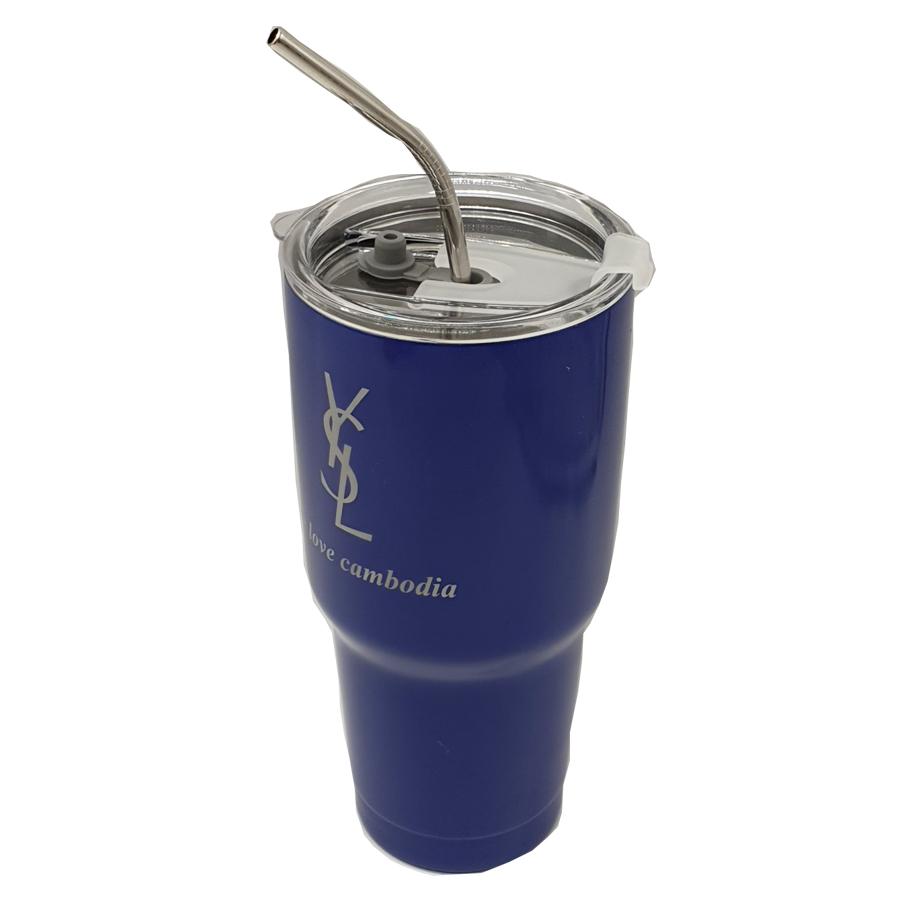 cốc uống nước siêu giữ nhiệt nóng / lạnh inox 2 lớp # tặng túi đựng thời trang # tặng ống hút INOX sành điệu