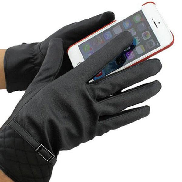 Găng tay da có cảm ứng điện thoại