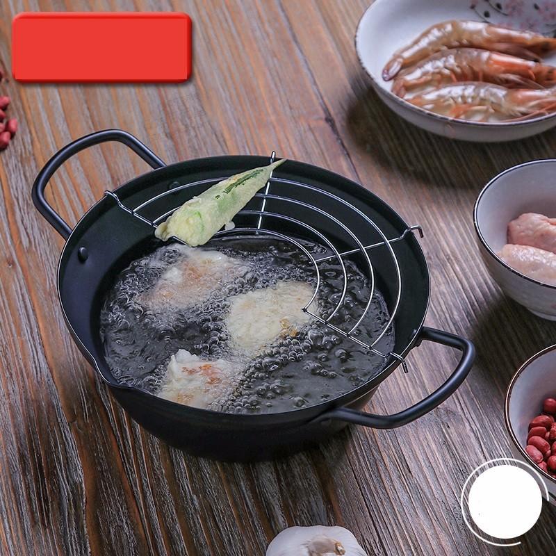 Hàng Nhật - Nồi nấu, chiên rán kèm khay hứng dùng được cho bếp từ 20cm