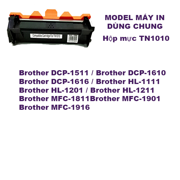 Hộp mực brother HL-1118/1111/DCP-1518/1511/MFC-1813/1818/1811( TN1010)