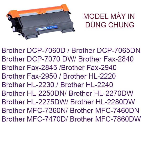 Hộp mực Brother HL-2240D/2250DN/2270D/MFc-7360/7060D (TN2260)