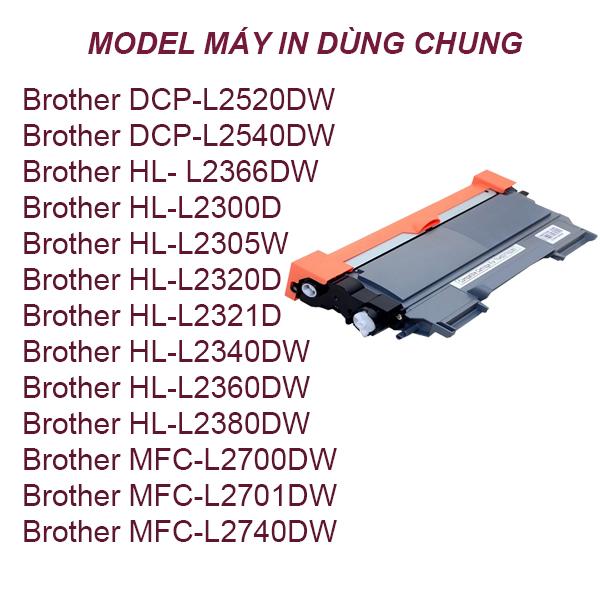 Hộp mực Brother  HL-L2320D/2321D/2720DW/2740DW/2520DW/2540DN (TN2385)