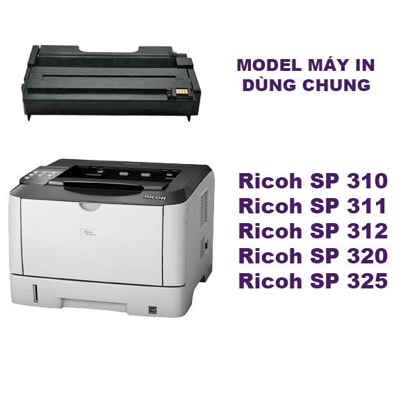 Hộp mực Ricoh SP310DN/310SFN/SP312NW/311LC/325