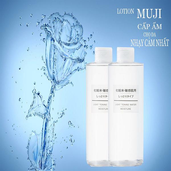 Nước hoa hồng dưỡng ẩm Muji Light Toning Water cho da thường