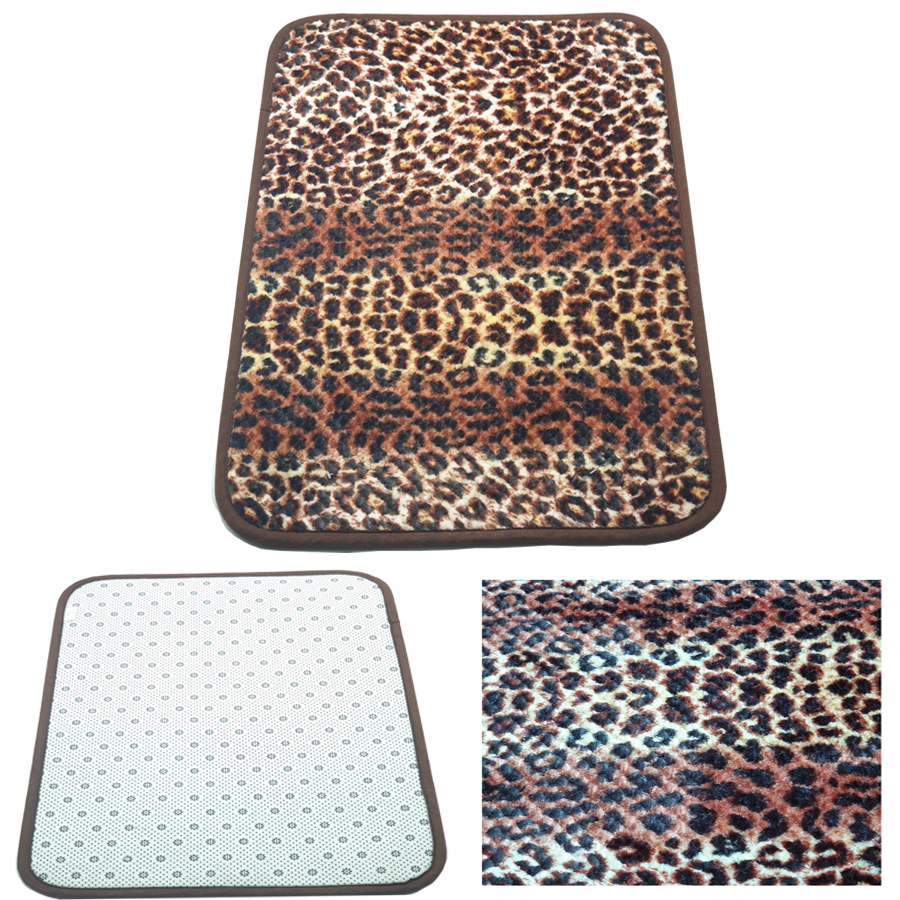 Thảm lau chân chống trơn trượt , lông dày mềm mịn 100% Polyester bền đẹp,cỡ 40 x 60cm