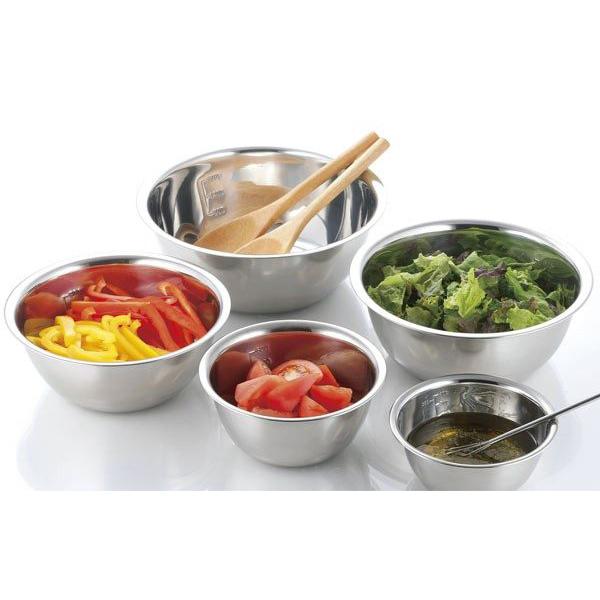 Bộ 5 chậu INOX nhà bếp có vạch chia đựng thực phẩm đa năng