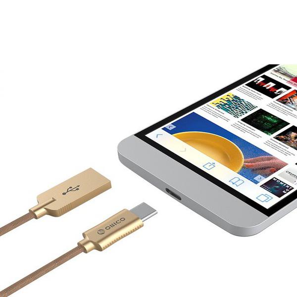 Cáp sạc điện thoại Orico Android USB 2.0 Type C HCU-10 (Vàng)
