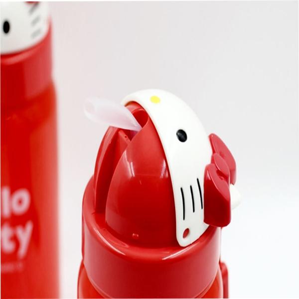 Bình nước vòi hút Skater hình Hello Kitty 350ml