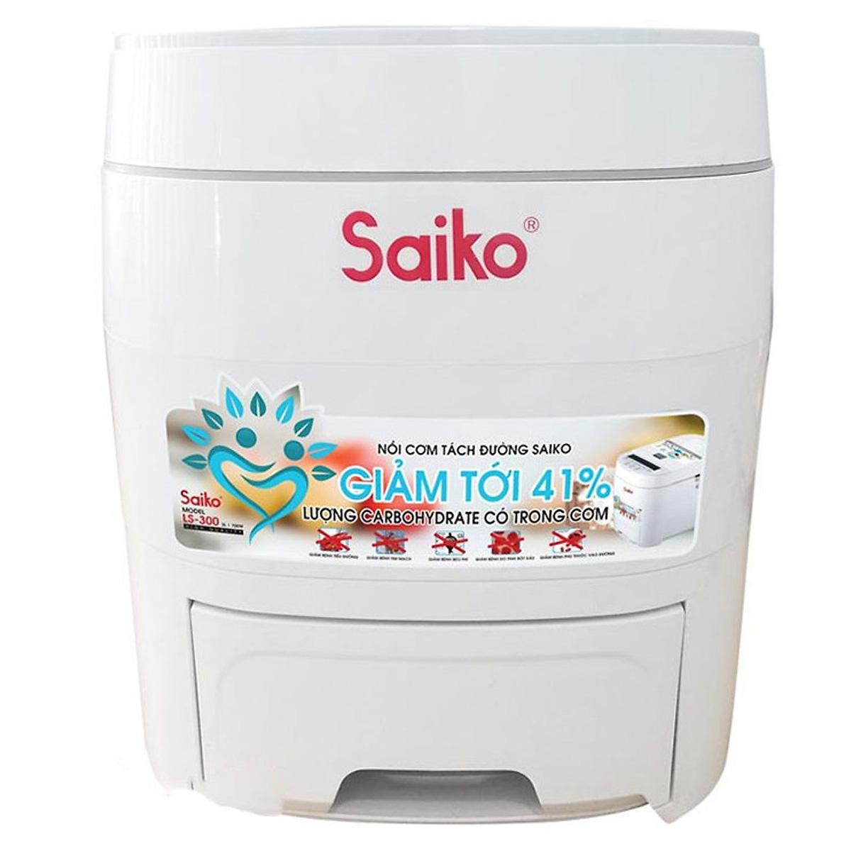 Nồi Cơm Tách Đường Saiko LS-300 (3.0 Lít) Tặng máy đo đường huyết