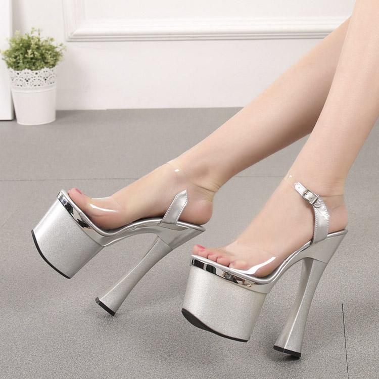 Giày cao gót vuông 18cm GC-1