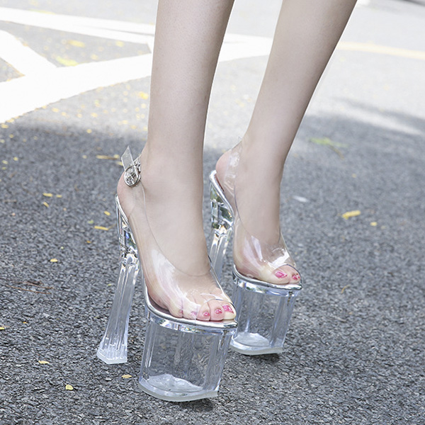 Giày Gót Trong 18cm GC-111