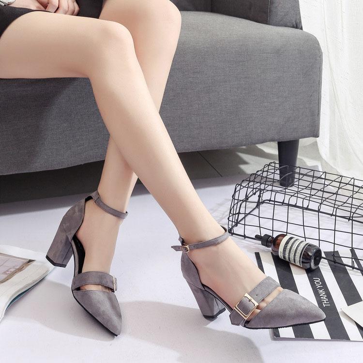 Giày gót vuông GC-21 (G-727)