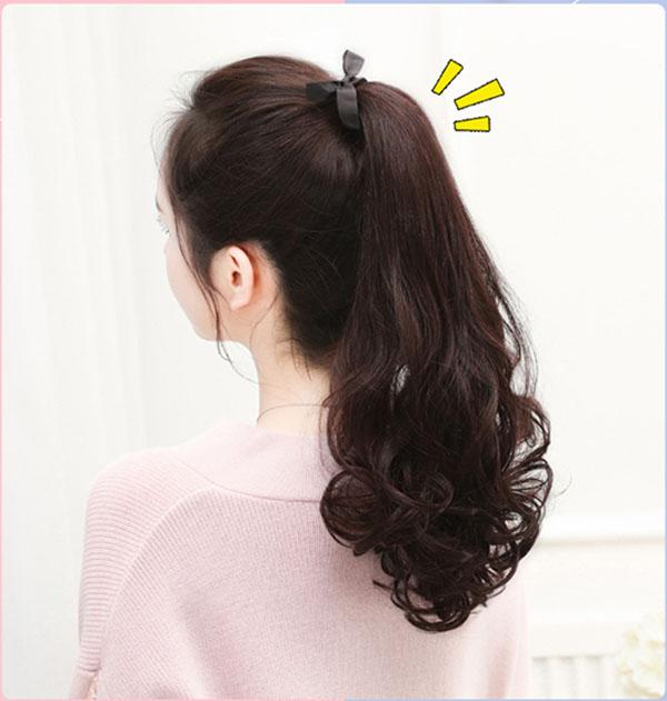 Tóc giả cột làm bằng tóc thật TCT-04