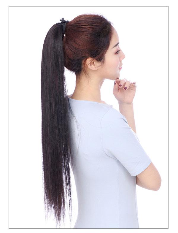 Tóc cột giả bằng tóc thật TCT-01