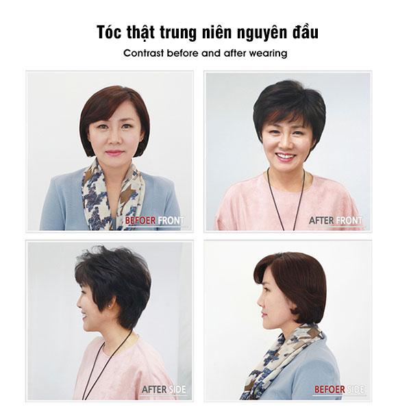 Tóc thật trung niên siêu da TGT-010