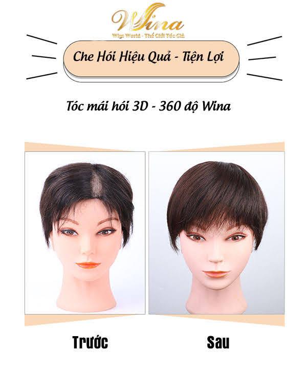Tóc Mái Giả 3D Bằng Tóc Thật