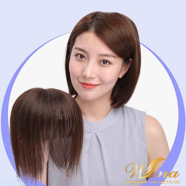 Tóc Mái Hói Siêu Da Lớn Sợi Tóc Thật 100%