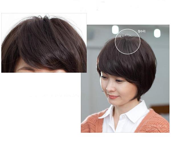 Tóc giả trung niên bằng tóc thật TGT-009