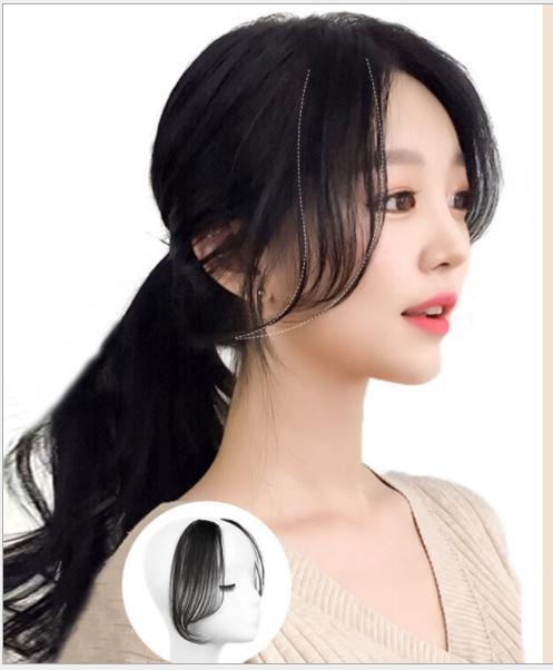 Cặp Mái Bay 2 Bên Hàn Quốc Tóc Thật 100% [ 20cm - 25cm ] MB001