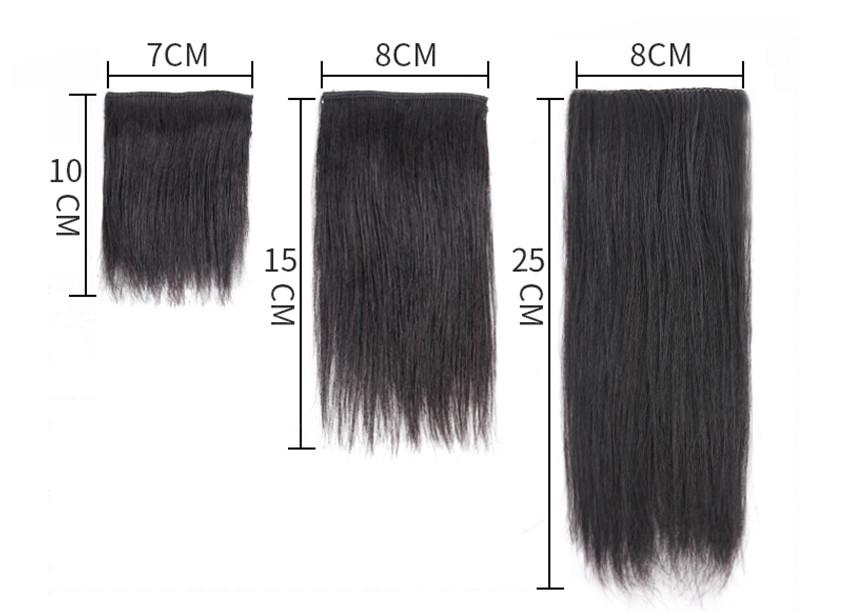 Tóc Mái Phồng 100% Tóc Thật 15cm - 25cm ( 1 Bên )