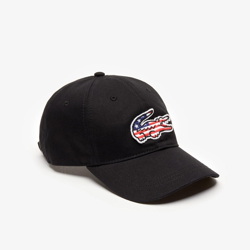 Mũ Lacoste American Flag Croc (Đen)