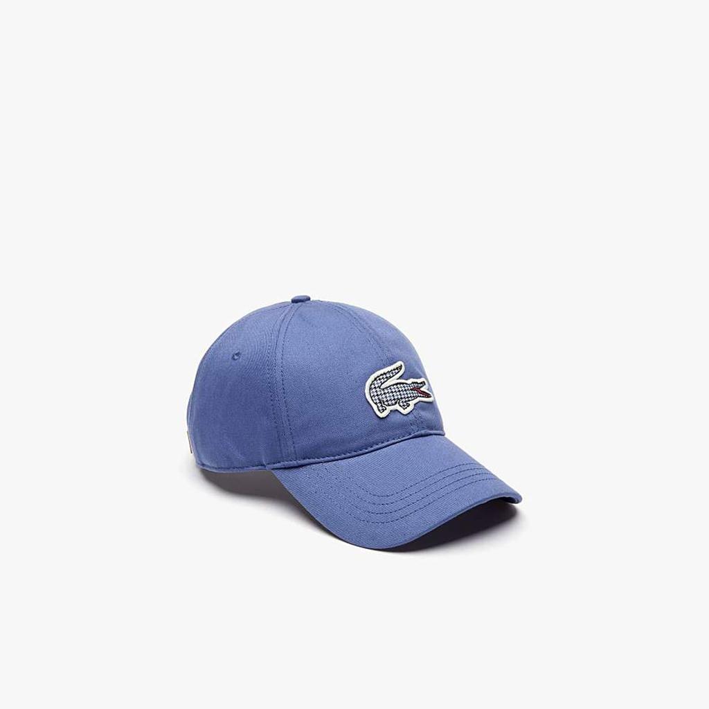 Mũ Lacoste Check Croc Badge Cotton – Xanh Blue