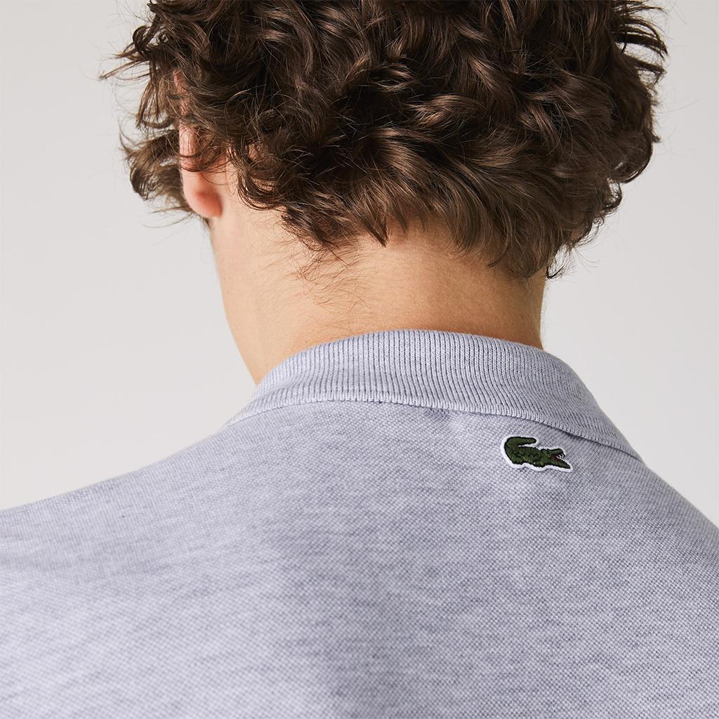 Áo Lacoste Polo Regular Fit Crocodile Badge – Ghi xám