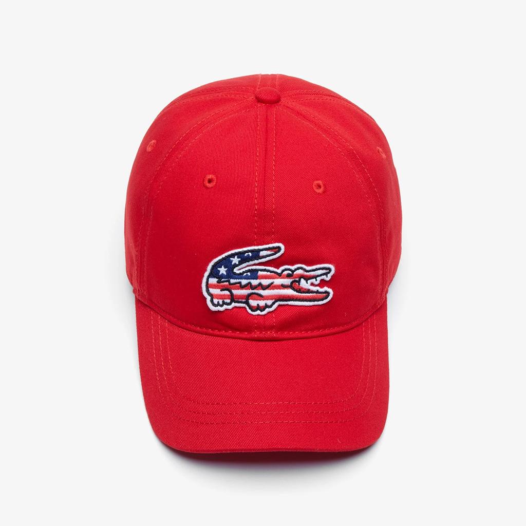 Mũ Lacoste American Flag Croc – Đỏ