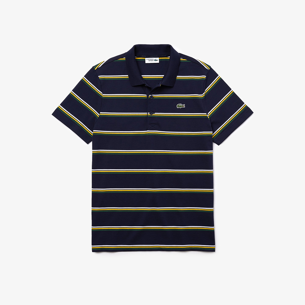 Áo Lacoste SPORT Contrast Stripe YH1492-51-DEY – Navy Blue