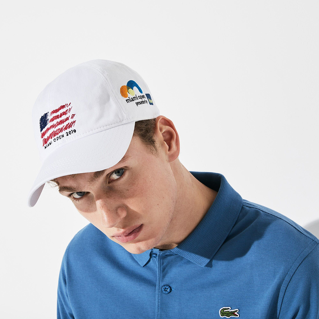Mũ Lacoste SPORT Miami Open Edition – Trắng