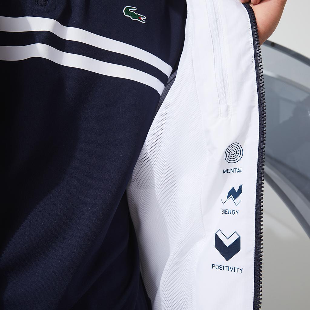 Áo khoác gió Lacoste SPORT Novak Djokovic - BH1461-51-525 Navy-Trắng